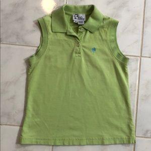 Lily Pulitzer Green Sleeveless Polo